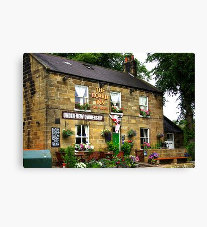 The Board Inn at Lealholme N.Yorks Canvas Print
