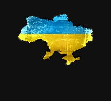Ukraine Flag and Map Unisex T-Shirt