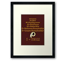 Washington Redskins History Framed Print