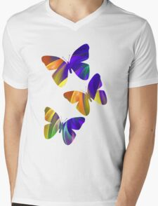 Colour Swing, fratal abstract Mens V-Neck T-Shirt