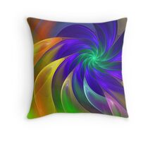Colour Swing, fratal abstract Throw Pillow