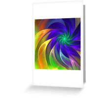 Colour Swing, fratal abstract Greeting Card