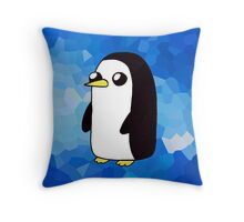 Gunter the Penguin. Throw Pillow