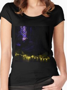Grotto Lights Women's Fitted Scoop T-Shirt
