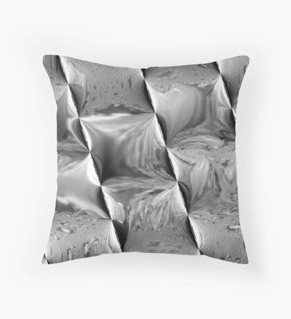 Metal Waves Throw Pillow