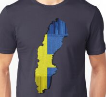 Sweden Flag Map Unisex T-Shirt