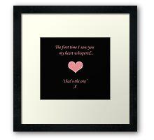 Heart Whispers Framed Print