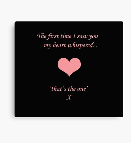 Heart Whispers Canvas Print