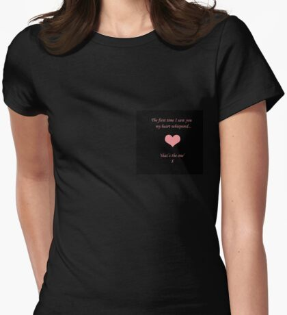 Heart Whispers Womens Fitted T-Shirt