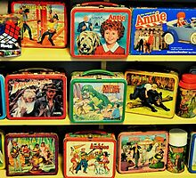 Vintage Lunch Pails by Laurie Minor