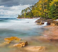 Pictured Rocks Surf by Kenneth Keifer