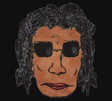 Cool Rock Star Man Drawing by DFLC Prints
