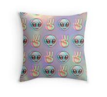 Alien Emoji - Fuzzy Throw Pillow