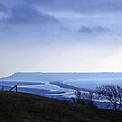 Landscape across Chesil Beach and Abbotsbury by lynn carter