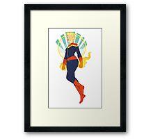 Captain Marvel Framed Print