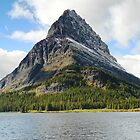 Grinnell Point from across Swiftcurrent Lake by Bass Sears