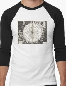 Wind Rose-Geographicus Anemographica-1650 Men's Baseball ¾ T-Shirt