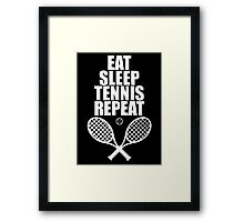 Eat Sleep Tennis Repeat Framed Print