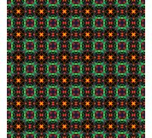 Mystic orange and emerald pattern Photographic Print