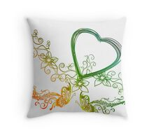 Valentine Abstract Throw Pillow