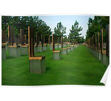 OKC National Memorial-The Survivor Chairs.... Poster