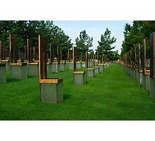 OKC National Memorial-The Survivor Chairs.... Photographic Print