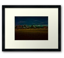 Houses in Front of the Beach Framed Print