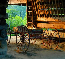 Barn and Wagon by David Lee Thompson
