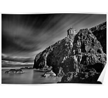 Mussenden Temple and Sea Stack Poster