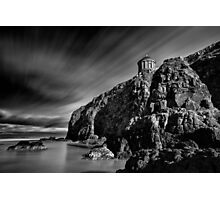 Mussenden Temple and Sea Stack Photographic Print