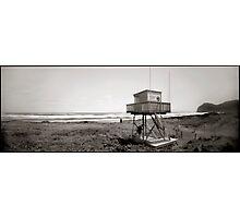 Piha Surf Tower pinhole Photographic Print