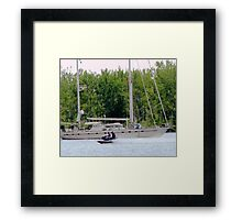 Asteroid and Jet Framed Print