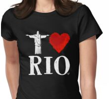 I Heart Rio de Janeiro (remix) by Tai's Tees Womens Fitted T-Shirt