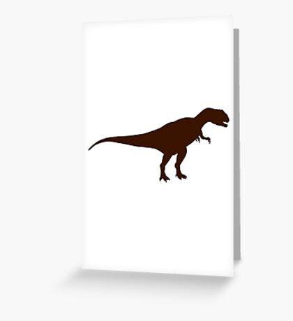 Allosaurus dinosaur Greeting Card