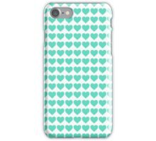 Tiffany Aqua Blue Candy Hearts on White iPhone Case/Skin