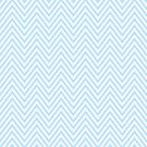 Pale Blue Thin Chevron by Nicola  Pearson