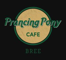 Prancing Pony Café (green / yellow / dark) Kids Clothes