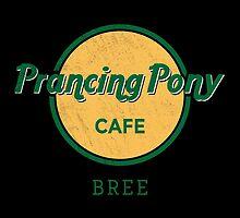 Prancing Pony Café (green / yellow / dark) by sebisghosts