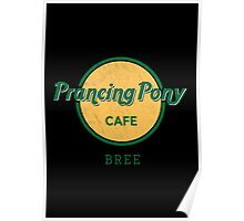 Prancing Pony Café (green / yellow / dark) Poster