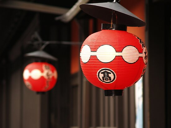 Gion Red Lanterns by Melissa Pearson