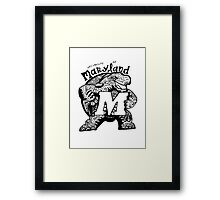 Hipster University of Maryland - College Park Design Framed Print