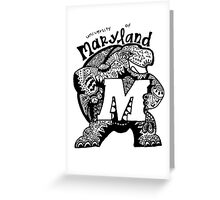 Hipster University of Maryland - College Park Design Greeting Card