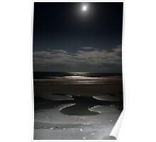 Moon Lit Pools Poster