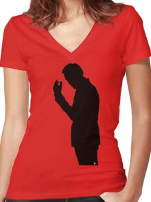 Jim Moriarty  Women's Fitted V-Neck T-Shirt