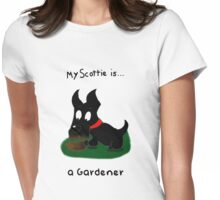 Scottie Dog 'My Scottie is... a Gardener' Womens Fitted T-Shirt