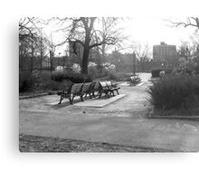 Cold bench Metal Print