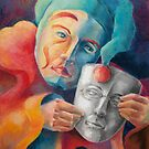 Self Portrait Holding a Mask by Ujean1974