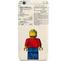 Lego Man Patent - Colour (v1) iPhone Case/Skin