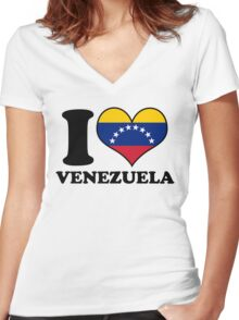 I Heart Venezuela Women's Fitted V-Neck T-Shirt