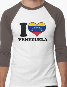 I Heart Venezuela Men's Baseball ¾ T-Shirt